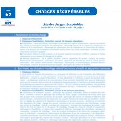 Liste réparations / charges locatives récupérables
